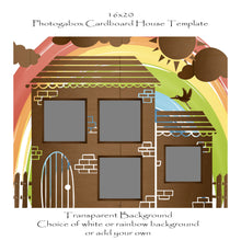 Load image into Gallery viewer, Photogabox Cardboard Box House 4 box 16x20