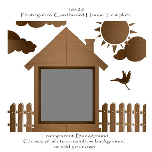 Photogabox Cardboard Box House 1 box  16x20