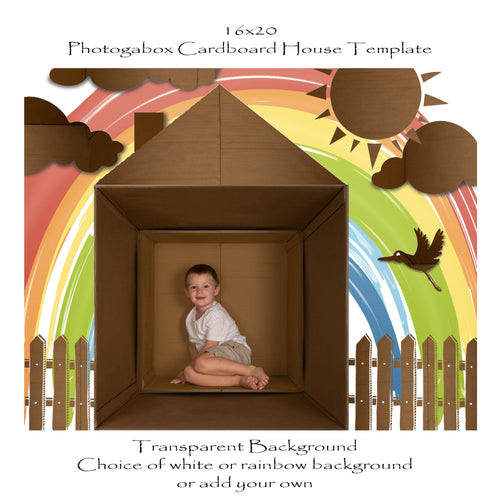 Photogabox Box Cardboard House 1 Box - Before Renos 16x20