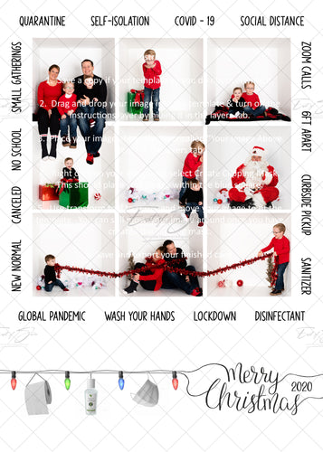 Covid-19 Christmas Card with Word Border