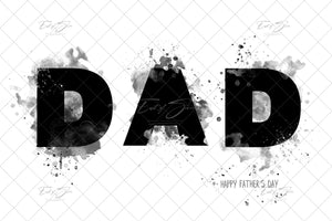 Dad Watercolor Template