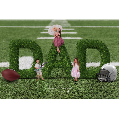 Fathers Day Digital Background (American Football)