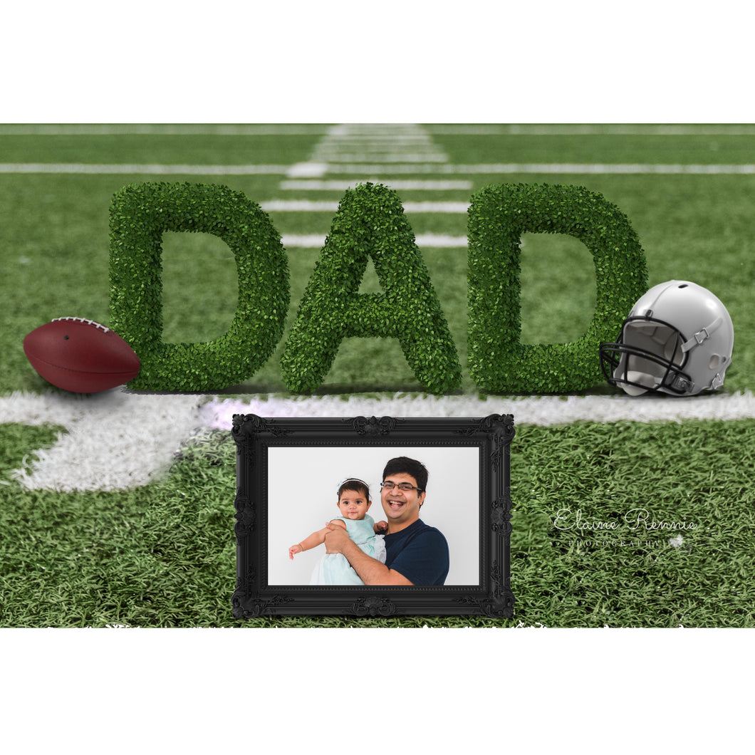 Fathers Day Digital Background (American Football with frame)