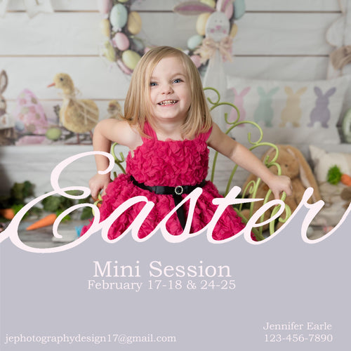 Easter Template for images  - Advertising or collage - Simple and classic