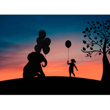 Load image into Gallery viewer, Elephant Balloon Silhouette