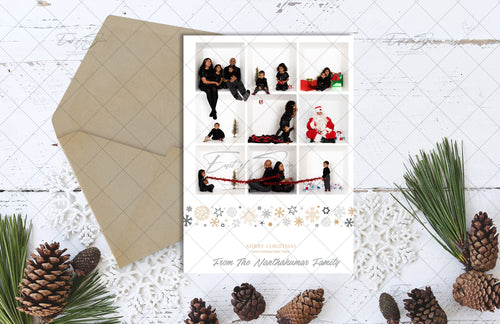 Christmas Card Flat Lay - White Barn Board