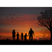 Load image into Gallery viewer, Family Sunset Silhouette
