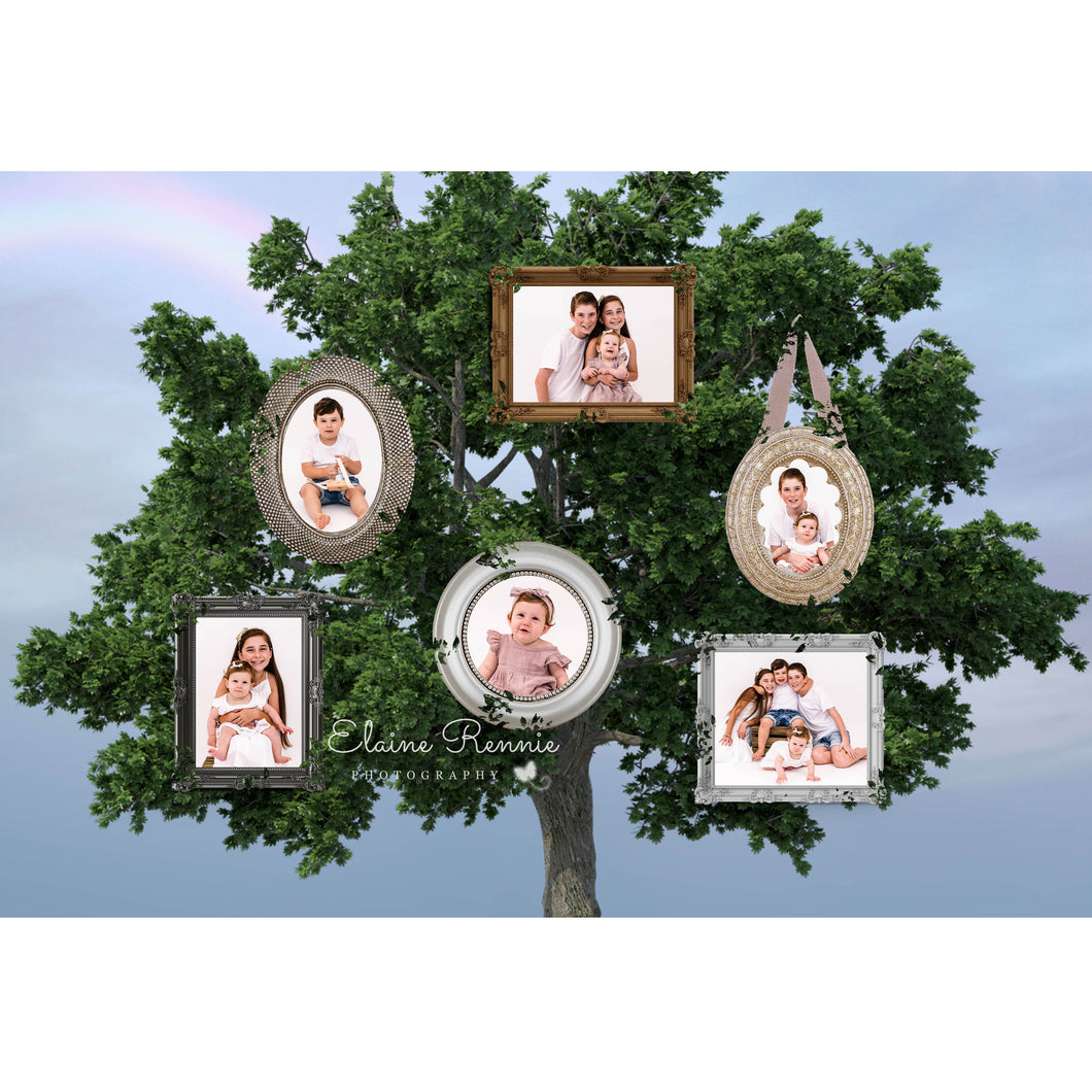 Family Tree Digital Background