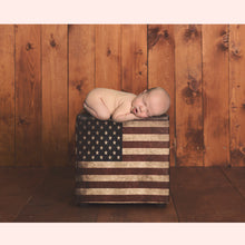 Load image into Gallery viewer, Flag Bench Newborn Digital Backdrop