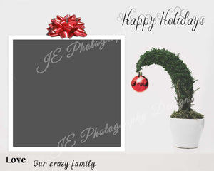 "Happy Holidays Christmas Card ""Grinch Tree"""