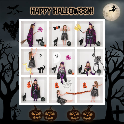 Happy Halloween 9 Box Grid Template