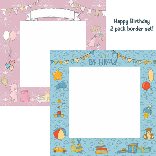 Elaine Rennie's 2 Pack Happy Birthday Borders