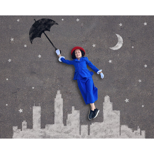 Mary Poppins Themed Sidewalk Chalk Digital Backdrop