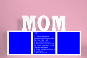 Mom 3 Box Horizontal Template