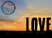 Load image into Gallery viewer, Silhouette LOVE Digital Template