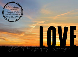 Silhouette LOVE Digital Template