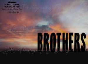 Silhouette Brothers and Boys Digital Template