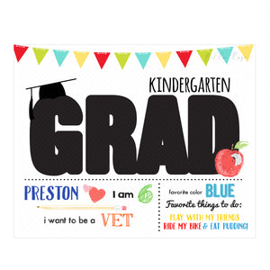 Graduation - Elementary School - Grad Overlay - Letter Template