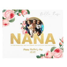 Load image into Gallery viewer, Nana Mother's Day Photo - Gold & Floral
