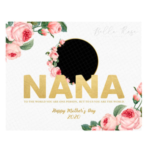 Nana Mother's Day Photo - Gold & Floral
