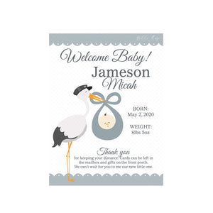 New Baby Yard Sign - Template