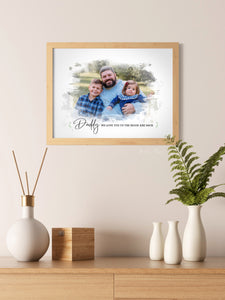 Father's Day - Dad - New Dad - Grandfather - Watercolor Template