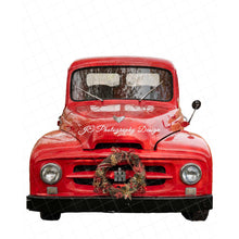 Load image into Gallery viewer, Vintage Red Truck PNG Bundle - 2 trucks included