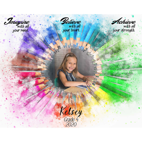 School Grade / Grad Photo template