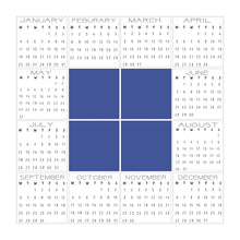 Load image into Gallery viewer, 2021 calendar combo | 1 box | 4 box | Customisable headings