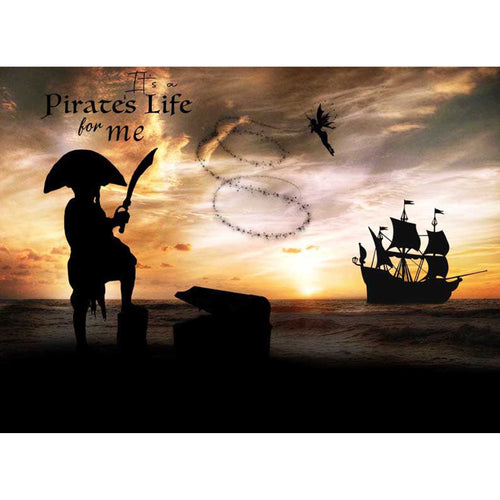 Silhouette Pirate's Life Digital Template