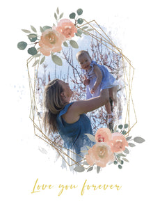 Mothers Day - The day the world stood still - Watercolor template