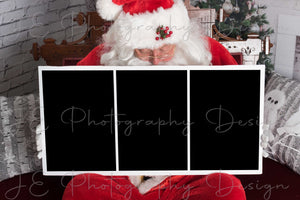 Santa Sign - Clipping mask template for 3 images