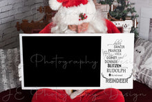 Load image into Gallery viewer, Santa Sign - Clipping mask template