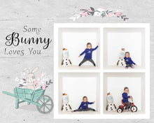 "Load image into Gallery viewer, Easter ""Some Bunny Loves You"" TEMPLATE - 4 and 9 Box"