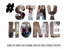 Load image into Gallery viewer, #stay home - quarantine 2020 word art template