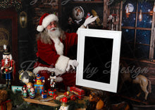Load image into Gallery viewer, Santa Sign - Toy shop Vertical frame - Clipping mask