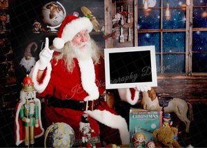 Santa Magic full toy shop- Clipping Mask Template