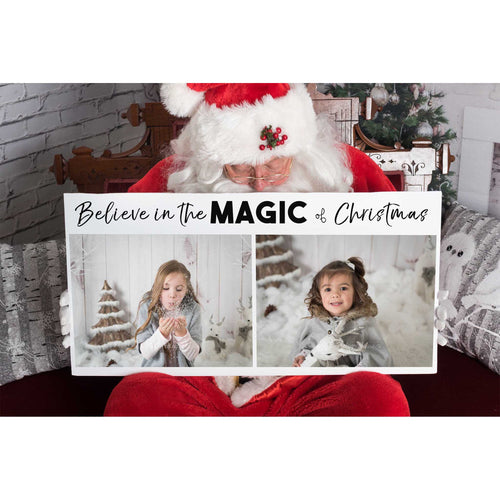 Santa Sign - Clipping mask template for 2 images