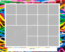 Load image into Gallery viewer, 1 large 14 small box White Grid template - School