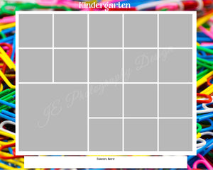 1 large 14 small box White Grid template - School