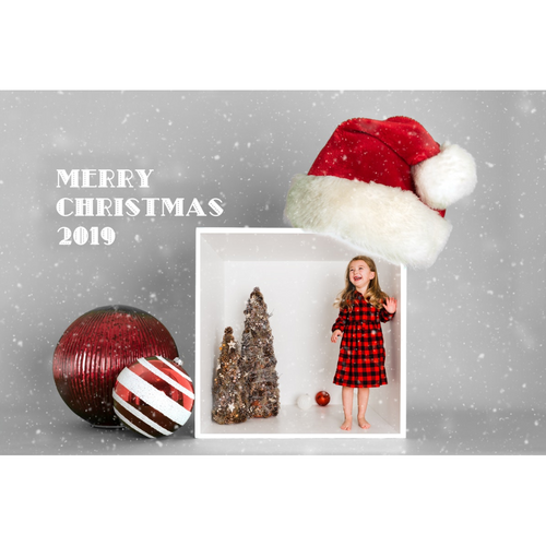Single or 4 Box Santa Hat & Ornaments Template (2020-2022)