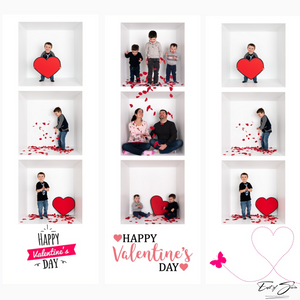4 Film Strip Valentines Day Cards