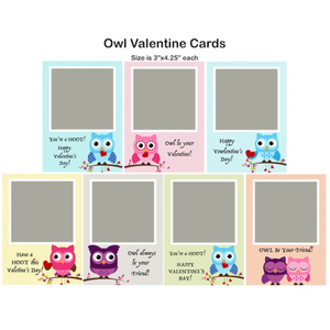 Owls Valentine Single Photo Cards
