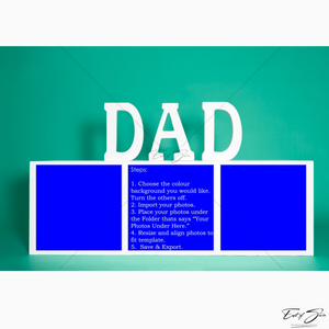 Father's Day 3 Box Horizontal Template
