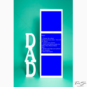 3 Box Father's Day Vertical Template