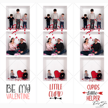 Load image into Gallery viewer, 6 Different Film Strip Designs for Valentine's Day Cards