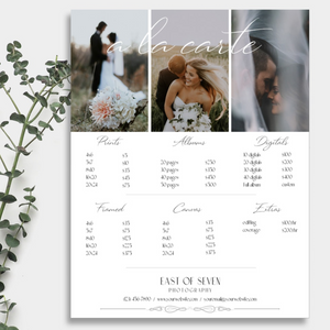 Wedding Price Guide Two Document Bundle