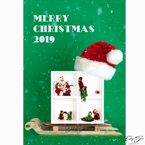 Single or 4 Box  Santa Hat and Sleigh Template (2020-2022)