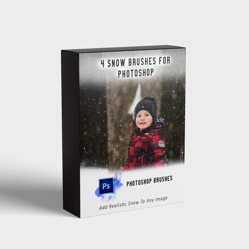 4 Snow Brushes for Photoshop