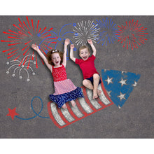 Load image into Gallery viewer, Sidewalk Chalk 4th of July Background